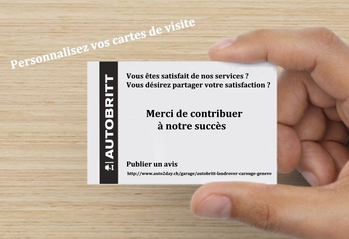 Carte de visite - Support commercial garage