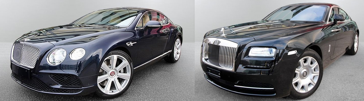 bentley continental gt vs rolls royce wraith exterieur