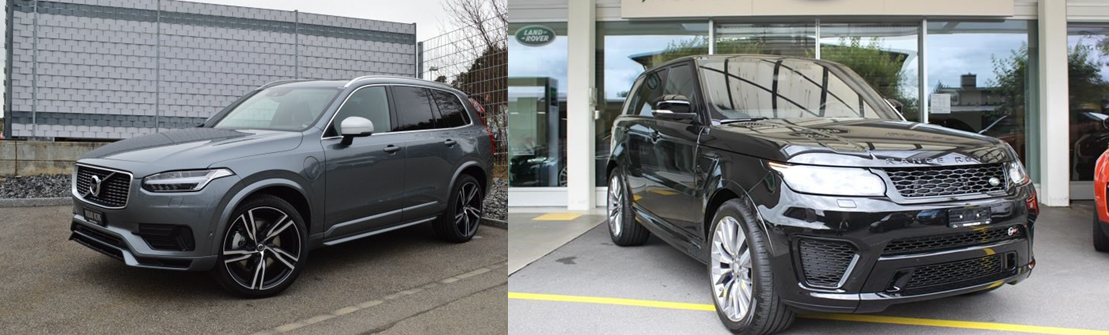 volvo xc90 vs range rover sport 2016 comparatif auto2day. Black Bedroom Furniture Sets. Home Design Ideas