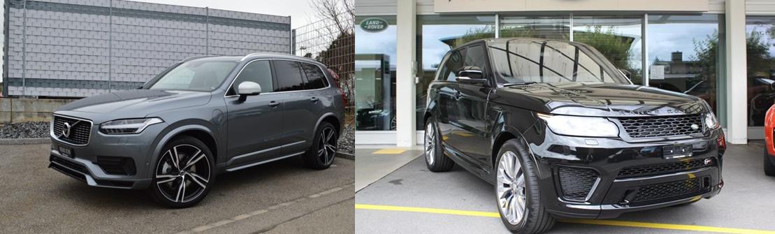 volvo xc90 vs range rover sport 2016 comparatif auto2day. Black Bedroom Furniture Sets. Home Design Ideas