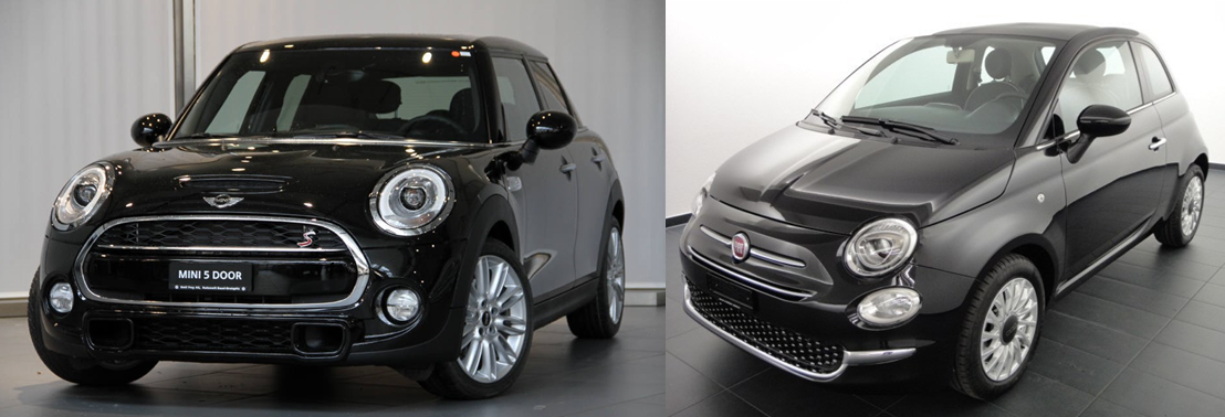mini cooper s vs fiat 500 comparatif et avis auto2day. Black Bedroom Furniture Sets. Home Design Ideas