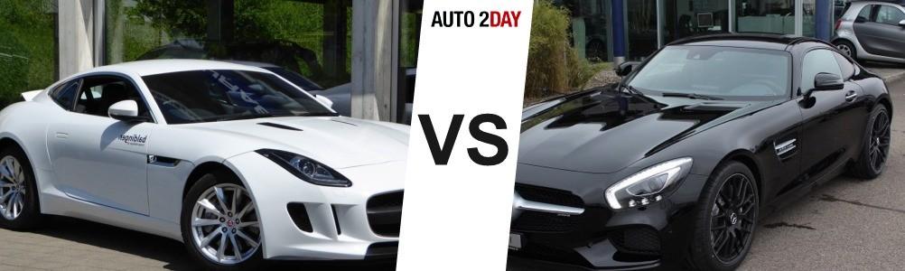 mercedes amg gt vs jaguar f type 2016
