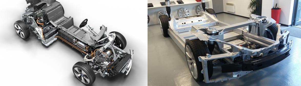 bmw i8 vs tesla model s p85d motorisation