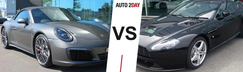 porsche 911 carrera 4 2016 vs aston martin v8 vantage 2015
