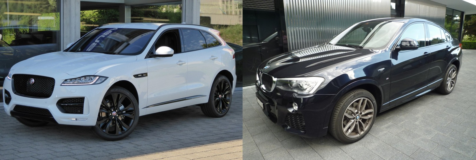 jaguar f pace vs bmw x4 2016 comparatif essai et avis auto2day. Black Bedroom Furniture Sets. Home Design Ideas