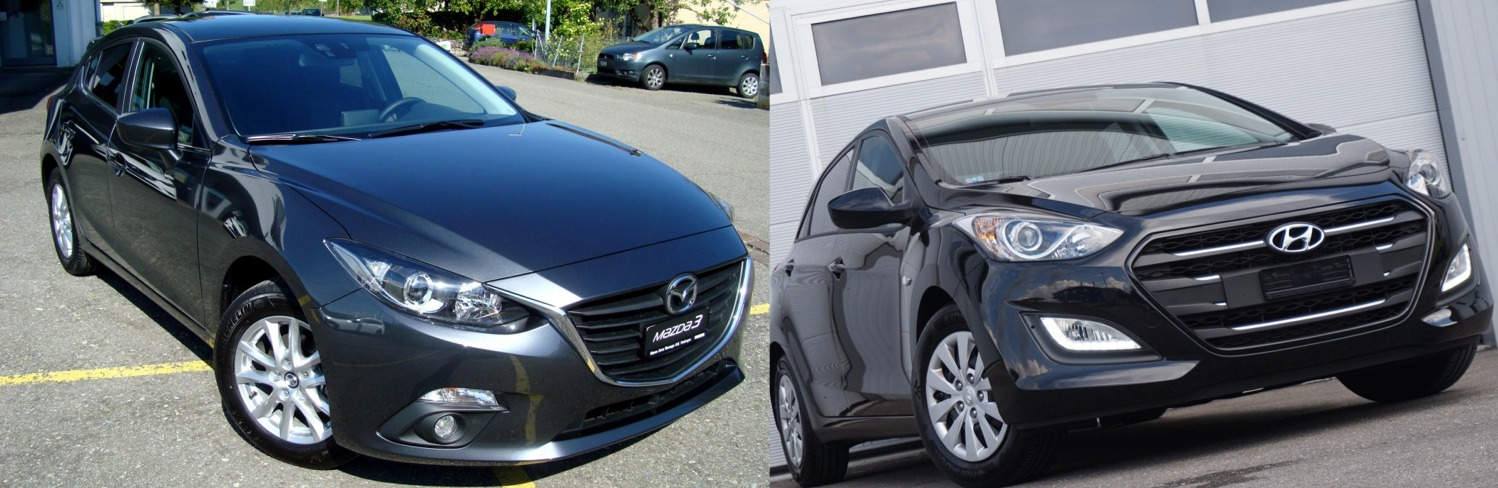 mazda 3 vs hyundai i30 2016 comparatif et avis auto2day. Black Bedroom Furniture Sets. Home Design Ideas