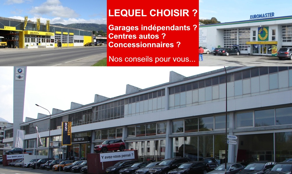 concession garage independant ou centre automobile lequel choisir