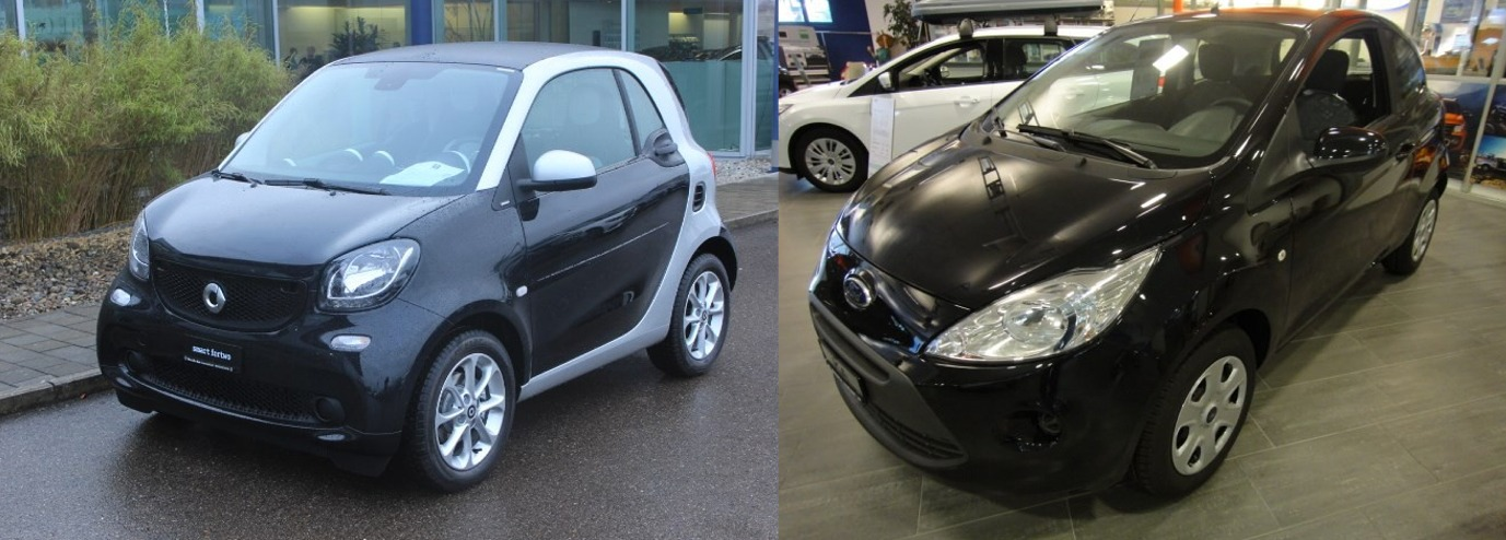 smart fortwo 2016 vs ford ka 2016 avis look exterieur
