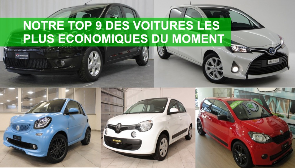 top 9 des voitures les plus economiques et les moins cheres du moment