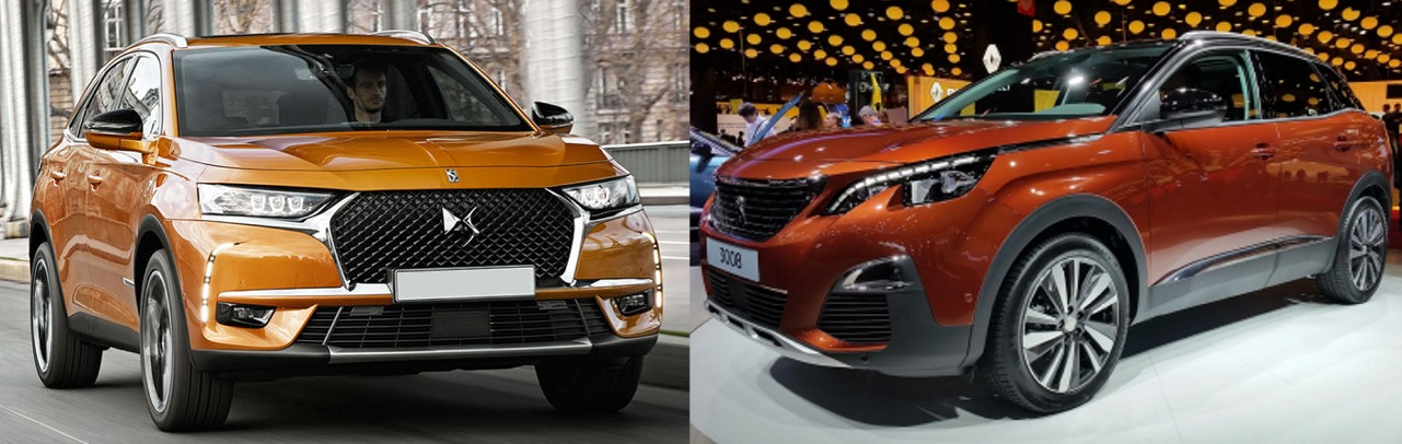 citroen ds7 crossback 2017 vs peugeot 3008 2017 comparatif look exterieur