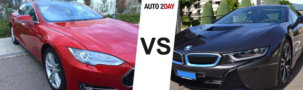 essai bmw i8 vs tesla model s